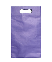 blue paper bag isolated on white with clipping path