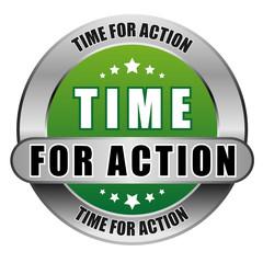 5 Star Button gruen TIME FOR ACTION DTO DTO