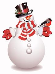 snowman. christmas. vector