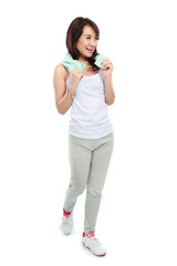 young aerobic woman
