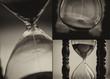 Closeup of hourglass clock