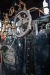 Commandes d'une locomotive à vapeur