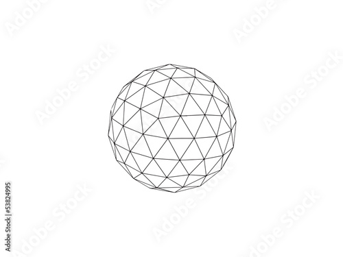 geodesic sphere line drawing