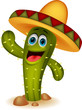 Cute cactus cartoon character
