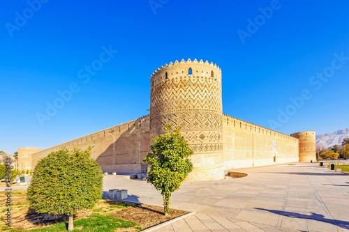 Ruins of Persian fortress in Arg-e Karim Khan, Shiraz, Iran.