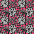 Elegant seamless pattern with  flowers on pink background