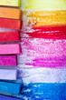 Colorful chalk pastels - education,  back to school