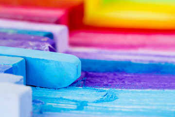 Colorful chalk pastels education, arts, creative