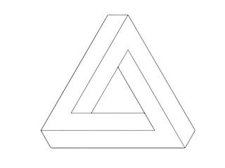 Escher triangle , optical illusion