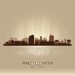 Port Elizabeth South Africa city skyline silhouette