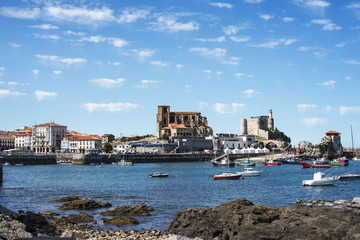 View of the Fishing Village of Castro Urdiales, Cantabria, Spain