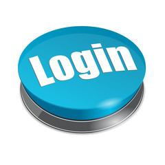 Login 3d round button