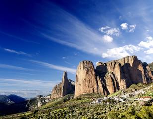 paisaje de montañas.Riglos,Huesca,Aragon,España