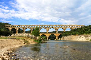 Roman Pont du Gard in southern France