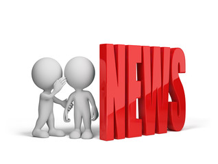 People exchange news
