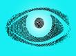 Auge im Fingerabdruck Abbildung