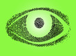 grün Fingerabdruck Auge Vector