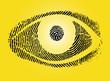 Fingerabdruck Auge gelb