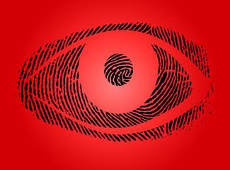 Fingerprint Eye Vector