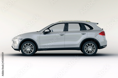 Luxury car in the studio