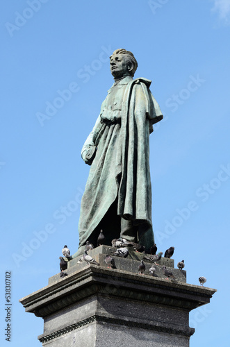 Monument of Adam Mickiewicz - national poet, Krakow,Poland