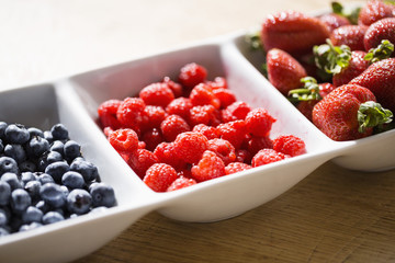 Assorted berries on a tray
