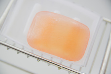 Close-up of a bar of soap