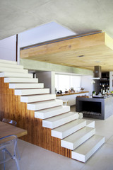 Staircase in a studio apartment