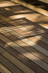 Shadow on a wooden floor