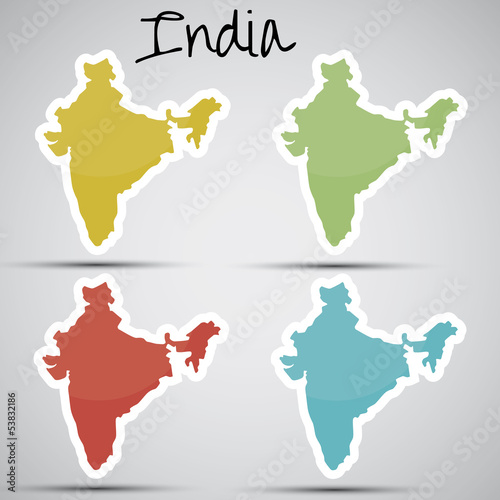 stickers in form of India