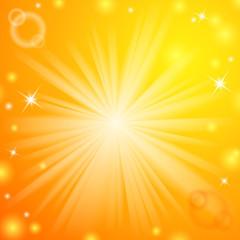Abstract magic light orange background