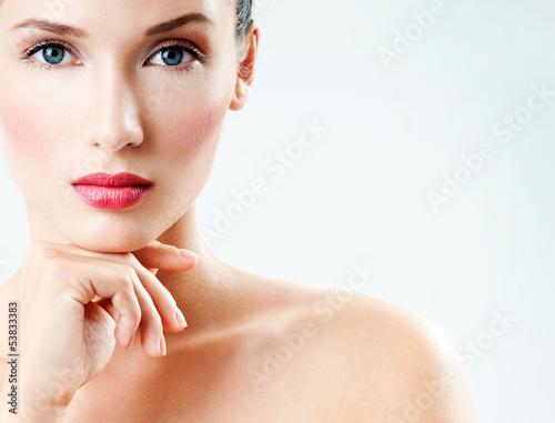 Beautiful Girl face. Perfect skin
