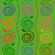 Seamless pattern of snakes