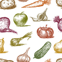 pattern of a fruit and vegetables