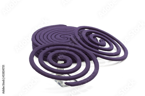 purple mosquito repellent isolated on white background