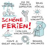 Schöne Ferien, Sprachen