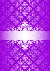 Vector purple vintage background