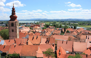 Ptuj and River Drava, Slovenia