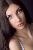 beautiful  brunette girl portrait