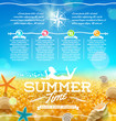 Summer vacation and travel design
