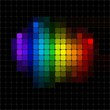 Abstract spectrum pixel mosaic.