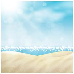 Spiaggia in estate