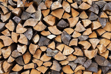 chipped logs