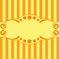Stripped orange background
