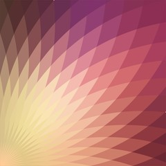 Background with bright pink red geometric flower.
