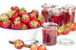 Frische selbstgemachte Erdbeer Marmelade