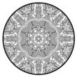 Ornamental round lace pattern like mandala