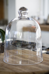 Close-up of a bell jar on a kitchen counter