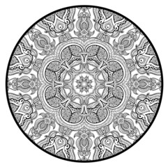 Ornamental round lace pattern like mandala