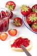Hausgemachte Erdbeerkonfitüre